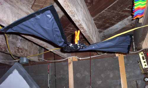 this shot shows the bat as it hangs in my basement i screwed a